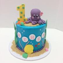 Baby Girl Ocean Cake