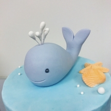 Baby Whale Cake Topper