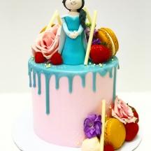 Elsa Drip Cake