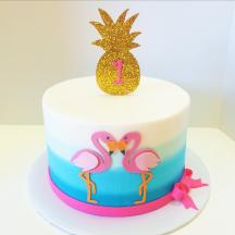 Flamingo Cake with Pineapple