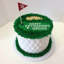 Golf Retirement Cake