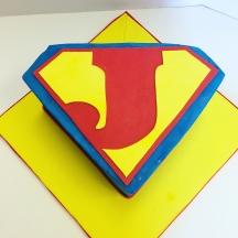 Superman J Cake