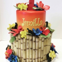 Tropical Bamboo Cake