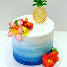 Tropical Ombre Watercolor