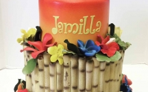 Tropical Bamboo Cake