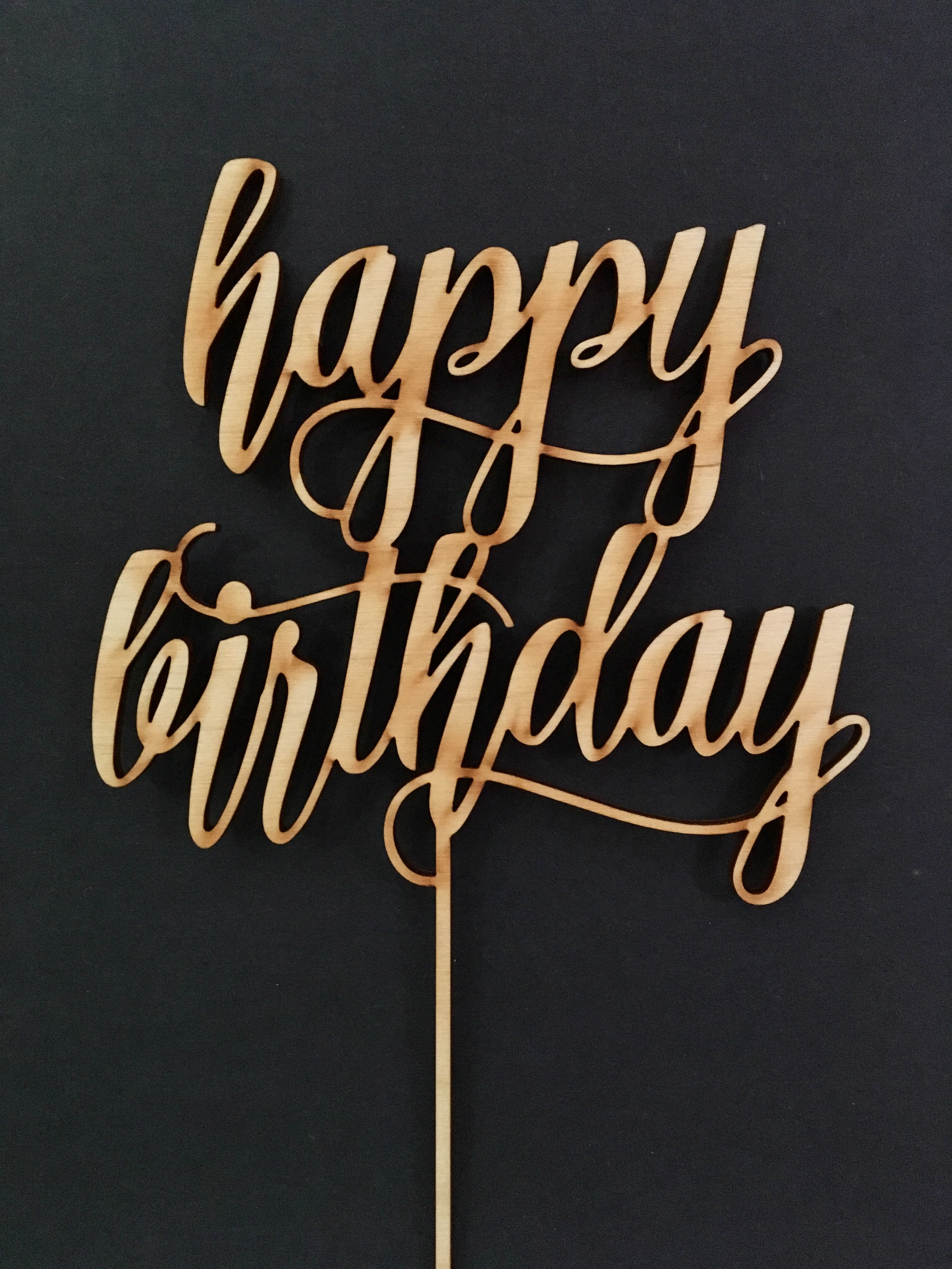 Happy Birthday Cake Topper 32 For Birch Wood And 40 Gold Or Silver Mirror Available In Any Color Option Fits Atop A 6 Tier
