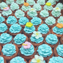 Blue Ruffle Cupcakes