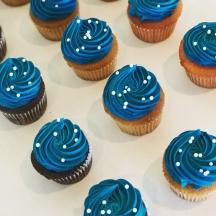 Blue Buttercream Swirl
