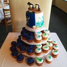 Half and Half Wedding Cupcake Tree