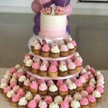 Pink Ruffle Cupcake Tree