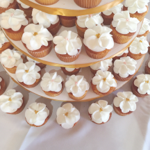 White Petal Cupcakes
