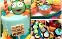 Whimsical Ocean Cupcakes