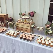 Cream & Peach Dessert Table 2