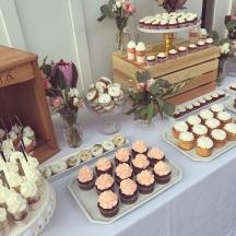 Cream & Peach Dessert Table