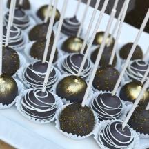 Gray & Gold Cake Pops
