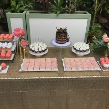 Coral Dessert Table