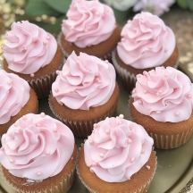 Pink Ruffle Cupcakes