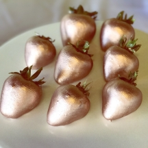 Rose Gold Strawberries