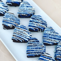 Royal Blue Heart Brownies
