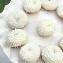 White Mini Donuts