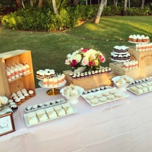White and Gold Dessert Table