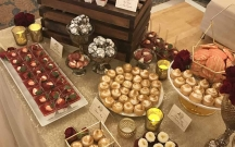 Burgundy and Gold Dessert Table 2