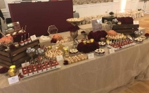 Burgundy and Gold Dessert Table