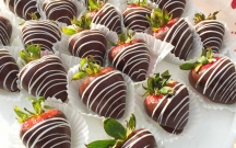 Drizzled Chocolate Covered Strawberries