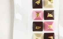 Neapolitan Chocolate Pyramids