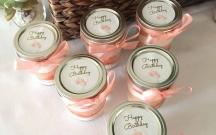 Pink Mason Jar Cakes