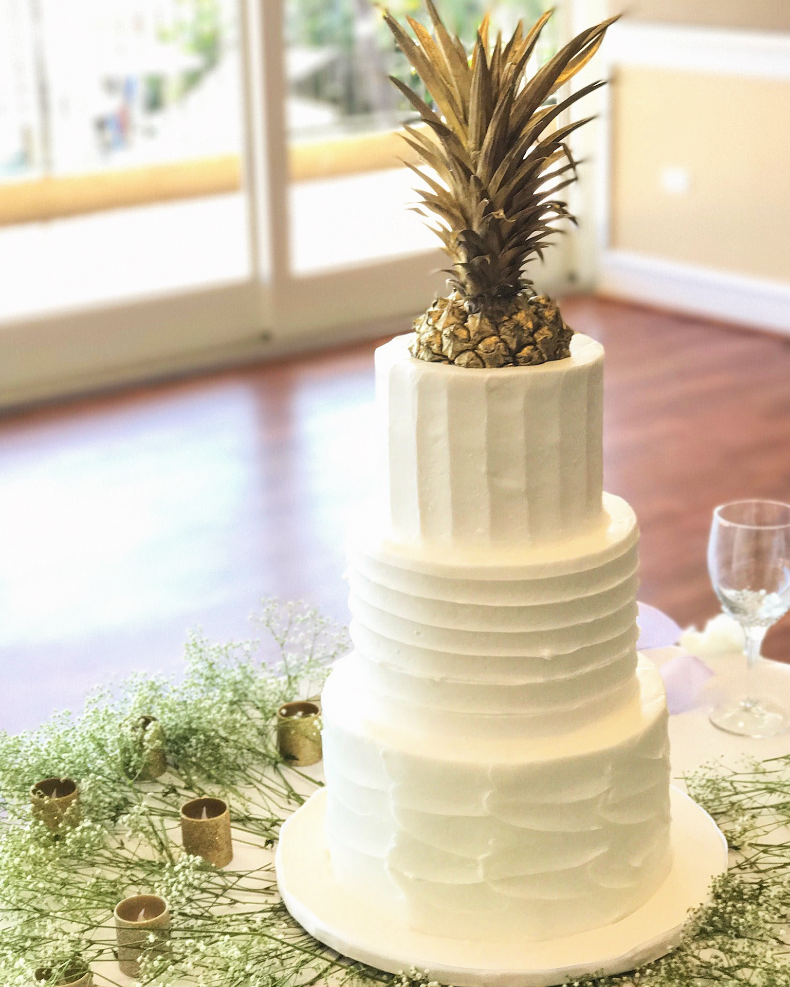 Hawaiian Pineapple Wedding Cake - Pineapple Wedding Cake