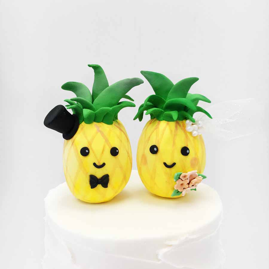 Pineapple Wedding Cake Topper