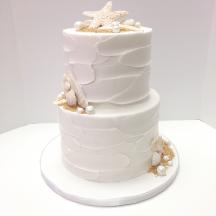 2-tier White Ocean Cake