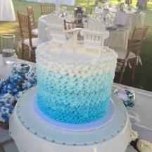Blue Ombre Buttercream Ruffles