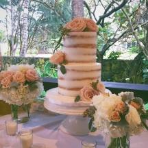 Blush Semi-Naked Cake