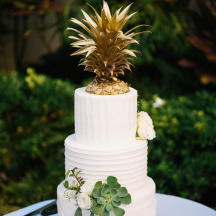 Buttercream Textured and Golden Pineapple