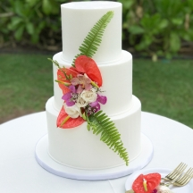 Clean Smooth Buttercream with Ferns