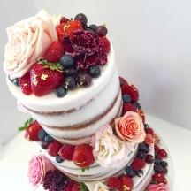 Fresh Fruits Naked Wedding Cake