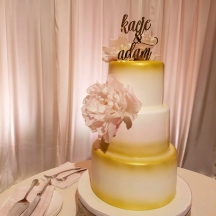 Gold Airbrush and Blush Peony