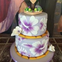 Lavender Hawaiian Floral Print