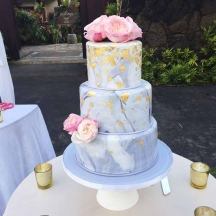 Marble Fondant with Gold Leaf