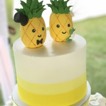 Pineapple Bride and Groom with Yellow Color Blocking