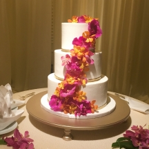 Pink Orchids and Gold Bands