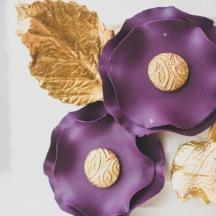 Purple Sugar Flower Detail