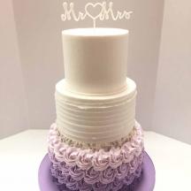Purple Ombre Buttercream Textures