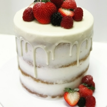 Semi Naked White Drip with Fruits