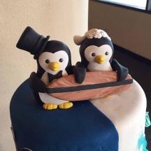 Sugar Penguin Cake Topper