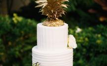 Buttercream Textured and Golden Pineapple