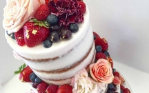 Fresh Fruits Naked Wedding Cake