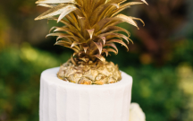 Gold Pineapple Cake Topper